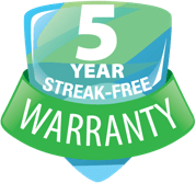 5 year streak free warranty