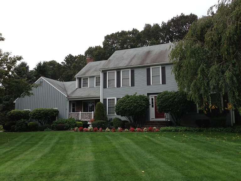 Dirty Roof with Black Streaks Rhode Island