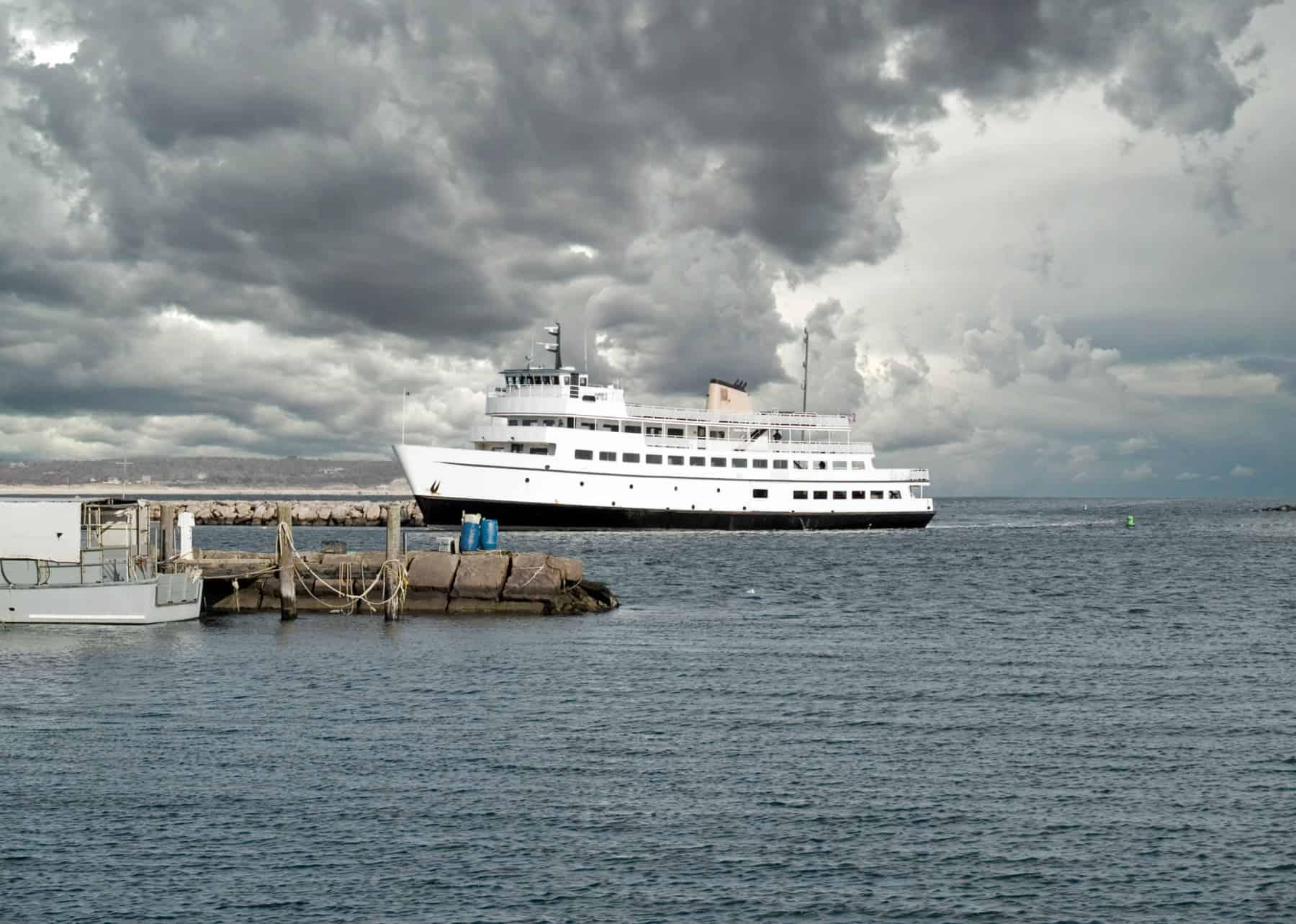 Ferry Boat in Narragansett Bay Rhode Island