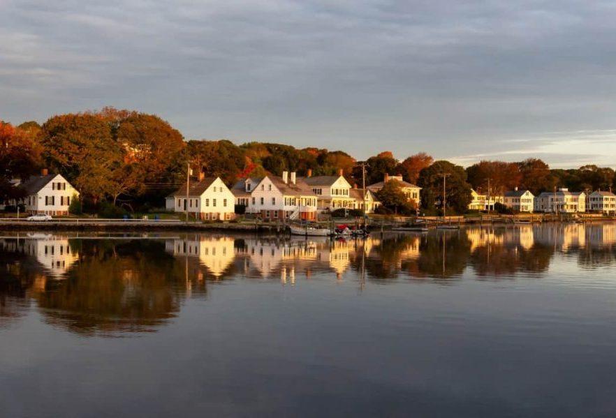White House Along the Mystic River near Stonington Connecticut